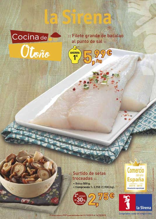 Ofertas de La Sirena, Cocina de Otoño