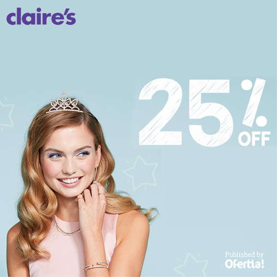 Ofertas de Claire's, 25% off
