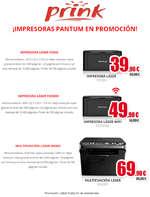 Ofertas de Prink, ¡Impresoras Pantum en promoción!