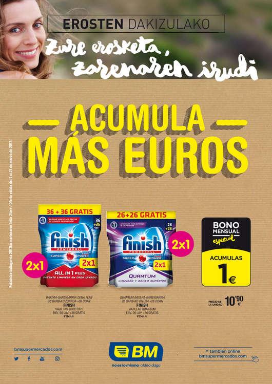 Ofertas de BM Supermercados, Acumula más euros