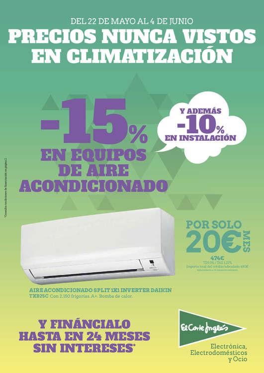 Ofertas de El Corte Inglés, Precios nunca vistos en climatización