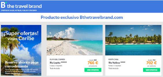 Ofertas de Barceló Viajes, Producto exclusivo