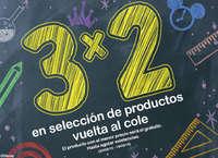 3x2 en selección de productos vuelta al cole