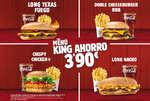 Ofertas de Burger King, Menú King Ahorro