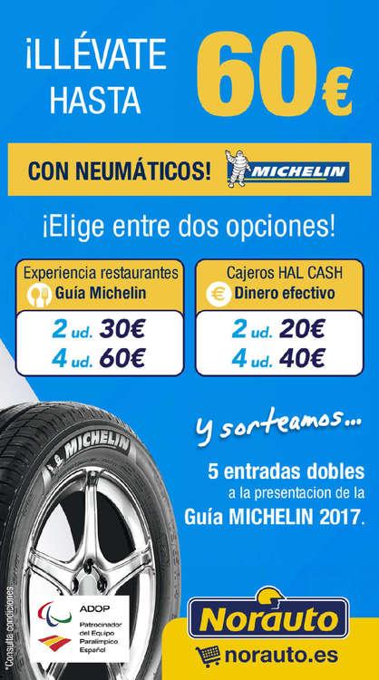 Ofertas de Norauto, ¡Llévate hasta 60€ con tus neumáticos MICHELIN!