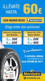 ¡Llévate hasta 60€ con tus neumáticos MICHELIN!