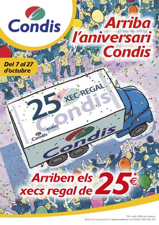 Ofertas de Condis, Arriba l'aniversari Condis