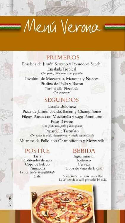 Ofertas de IlTempietto, Menú Verano