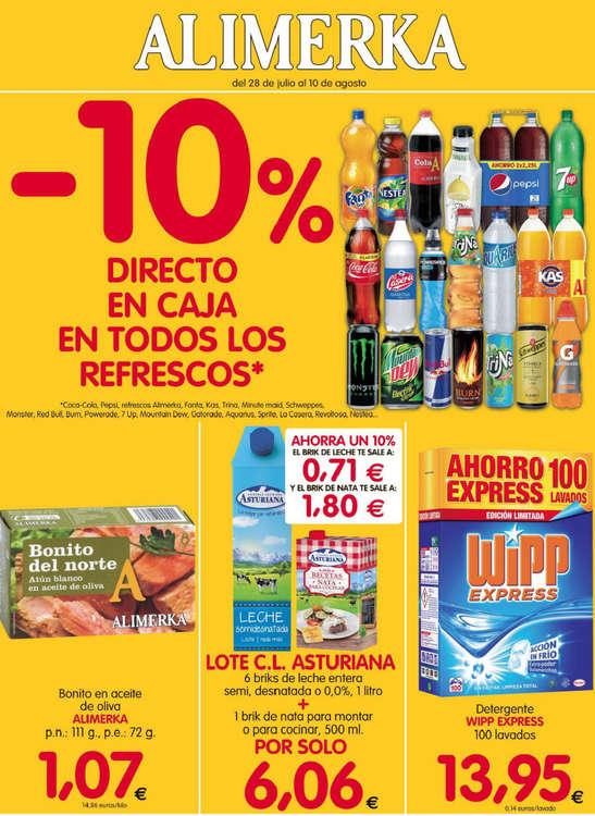 Ofertas de Alimerka, -10% en refrescos