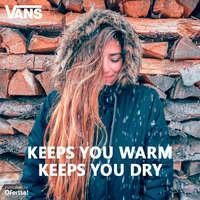 Keeps you warm. Keeps you dry