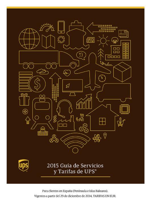Ofertas de UPS, Guía de servicios y tarifas 2015