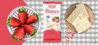 Chocolate blanco con fresa, perfecta combinación