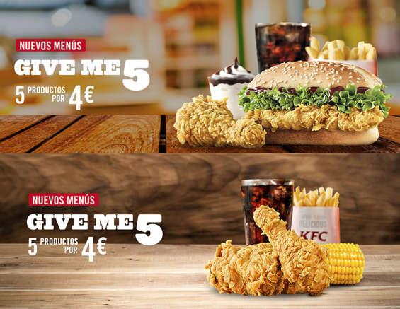 Ofertas de KFC, Nuevos menús Give me 5