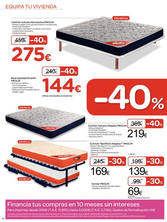 Comprar somier en vitoria gasteiz ofertas y tiendas Barrera cama carrefour