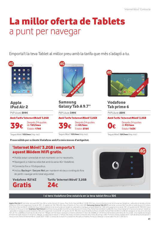 Ofertas de Vodafone, Agost - Setembre