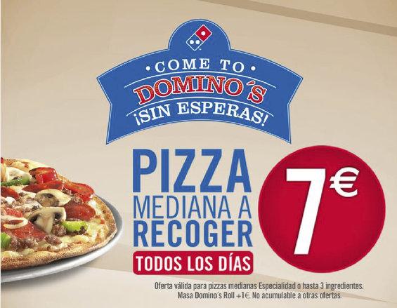 Ofertas de Domino's Pizza, Ofertas en productos a recoger