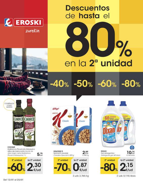 Ofertas de Eroski, Descuentos de hasta el 80% en la 2a unidad