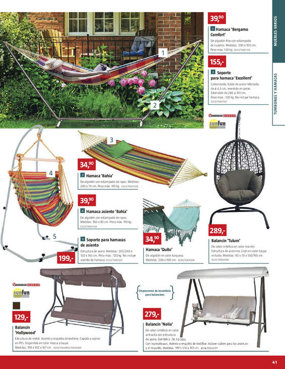 Ofertas de Bauhaus, Especial muebles de jardín