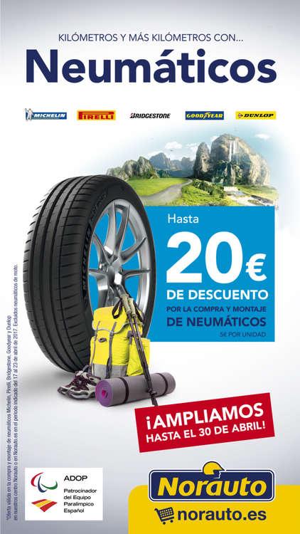 Ofertas de Norauto, 20€ dto Neumáticos marcas Premium
