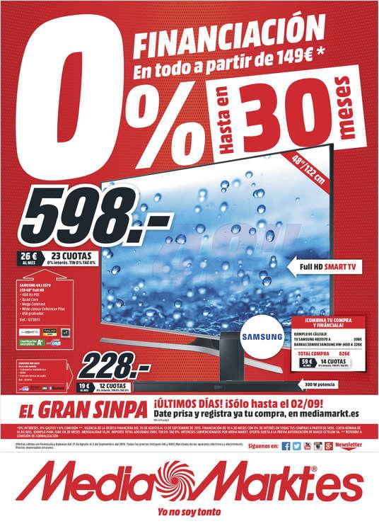 Ofertas de Media Markt, 0% financiación hasta en 30 meses - León