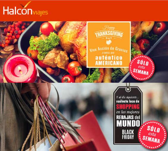 Ofertas de Halcón Viajes, Vive acción de gracias
