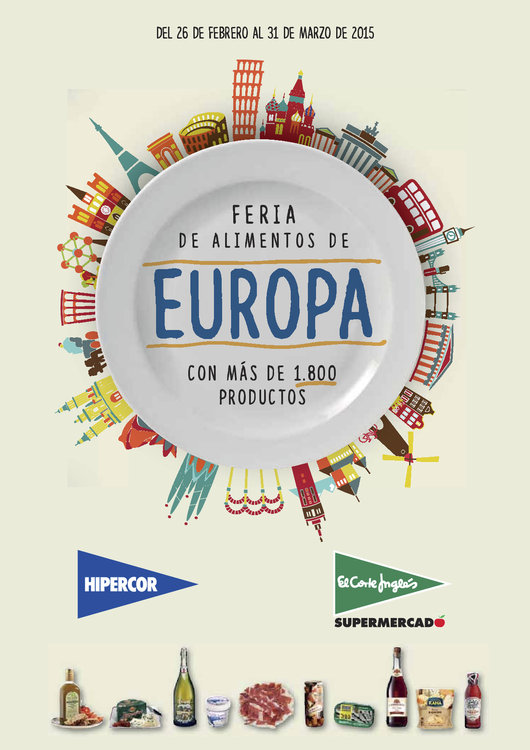 Ofertas de El Corte Inglés, Feria de alimentos de Europa
