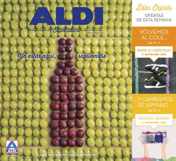 Ofertas de ALDI, Ya estás aquí, septiembre