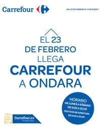 El 23 de Febrero llega Carrefour a Ondara