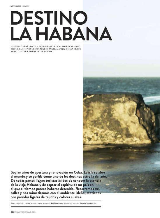 Ofertas de El Corte Inglés, Novedades Primavera Verano 2015 Hombre