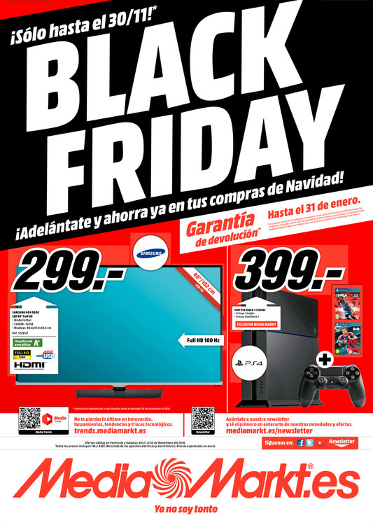 Ofertas de Media Markt, Black Friday