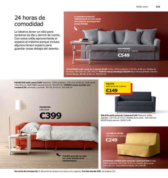 Ikea sof cama ofertas y cat logos destacados ofertia for Catalogos sofas precios