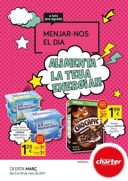 Ofertas de Supermercados Charter, Alimenta la teua energia!!