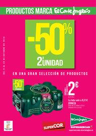 Productos Marca El Corte Inglés. -50 en 2ª Unidad