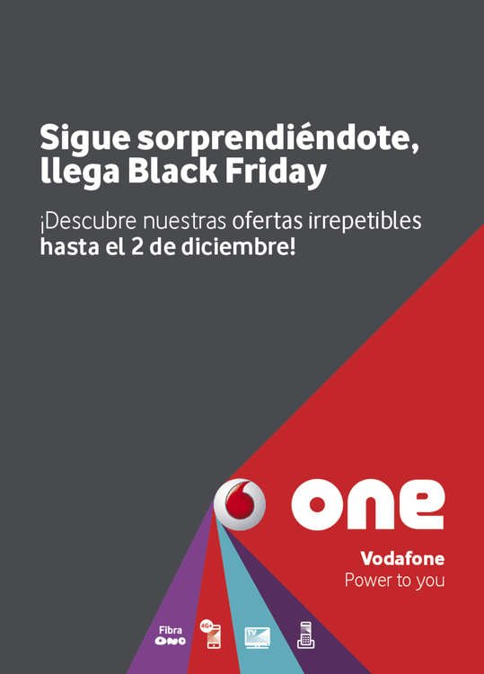 Ofertas de Vodafone, Black friday