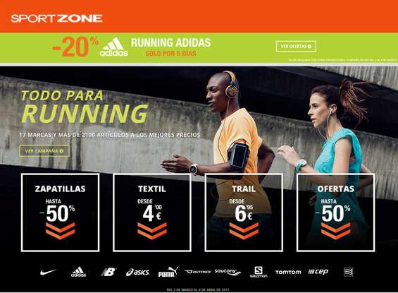 Ofertas de Sport Zone, Todo para running