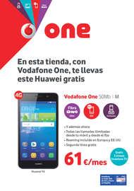 En esta tienda, con Vodafone One, te llevas este Huawei gratis