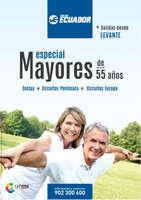 Ofertas de Viajes Ecuador, Especial Mayores de 55 años. Salidas desde Levante