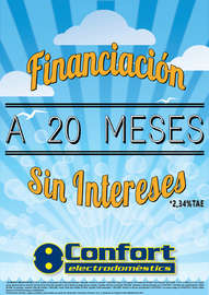 Financiación a 20 meses intereses