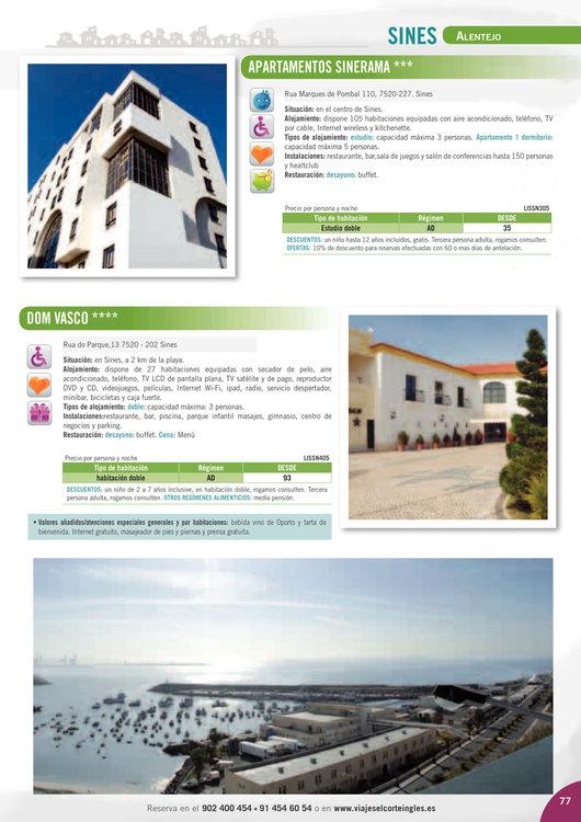 Ofertas de Viajes El Corte Inglés, Portugal 2014