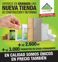 Abrimos en Granada una nueva tienda de construcción y reformas