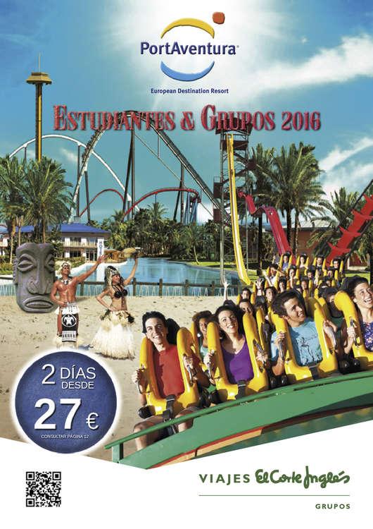 Ofertas de Viajes El Corte Inglés, Port Aventura grupos 2016