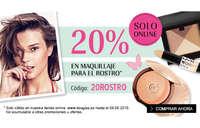 20% en maquillaje para el rostro