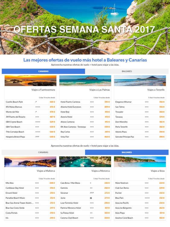 Ofertas de Barceló Viajes, Ofertas Semana Santa 2017