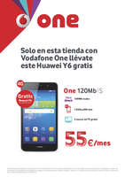 Ofertas de Vodafone, Solo en esta tienda con Vodafone One llévate éste Huawei Y6 gratis