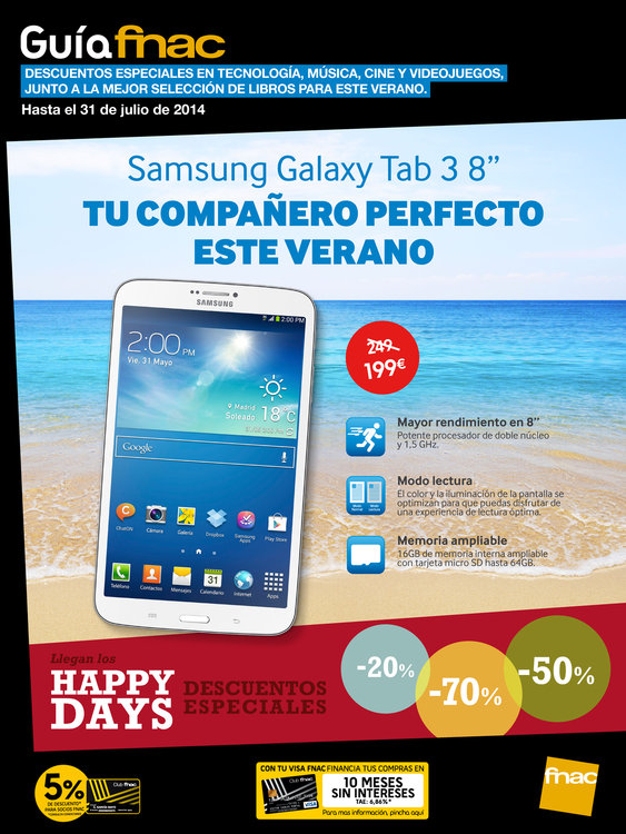 Ofertas de FNAC, Llegan los Happy Days