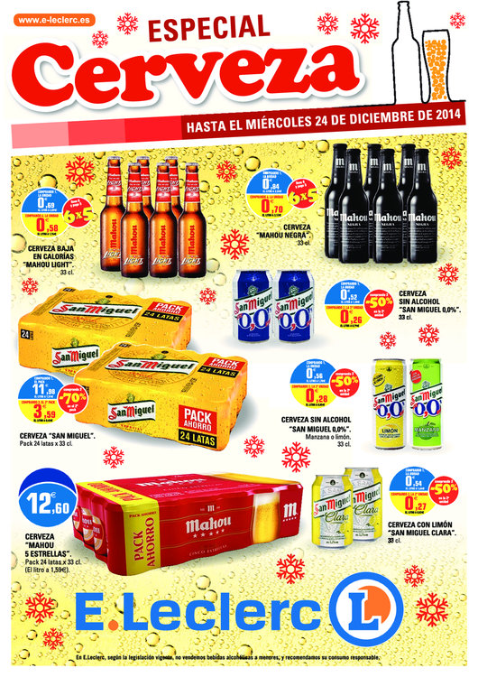 Ofertas de E. Leclerc, Especial Cerveza