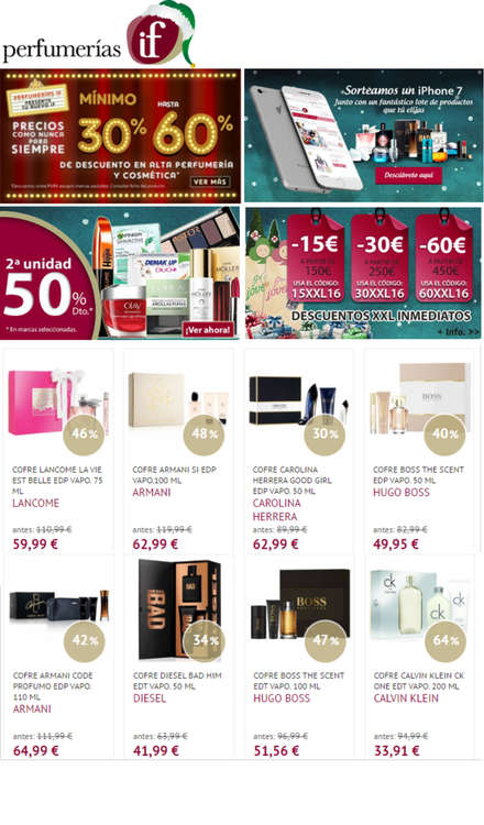 Ofertas de Perfumerías If, Ofertas