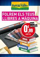 Ofertas de Bureau Vallée, Folrem els teus llibres a màquina