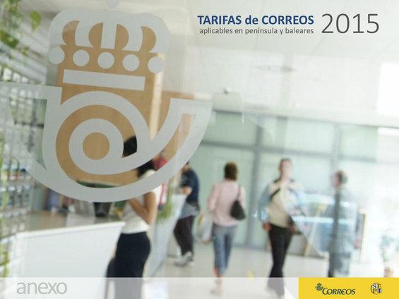 Ofertas de Correos, Tarifas de Correos 2015 en Península y Baleares