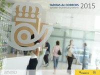 Tarifas de Correos 2015 en Península y Baleares